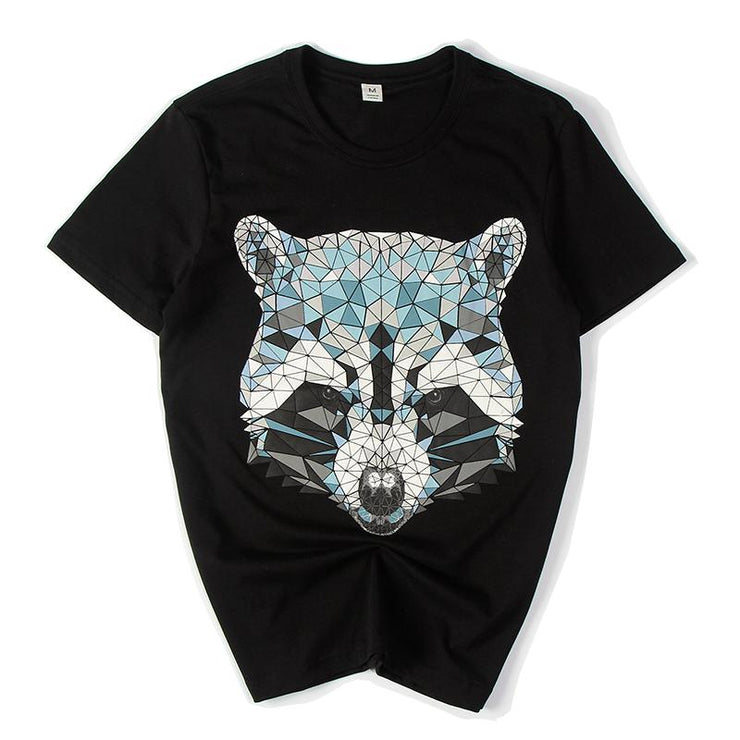 009ab8a60c 3D Raccoon Painted T-shirt