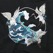 Cranes Embroidery Polo Shirt