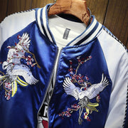 Cranes in Pair Sukajan Souvenir Jacket