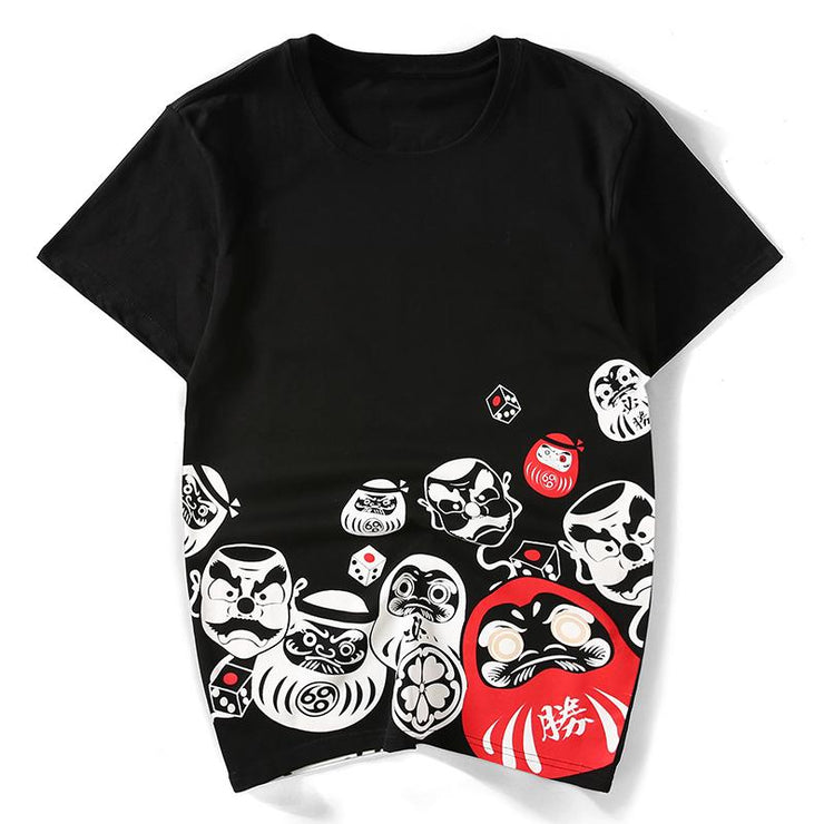 Japanese Daruma Doll Painted T-shirt