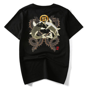 Double Dragon & Koi Sukajan T-shirt