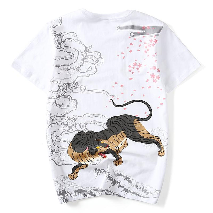 Fearless Tiger Painted T-shirt