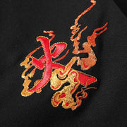 Fire Phoenix Embroidery Polo Shirt