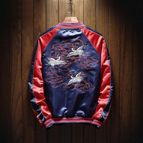 Flying Cranes Sukajan Souvenir Jacket