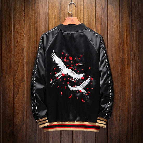 Double Flying Cranes Sukajan Souvenir Jacket