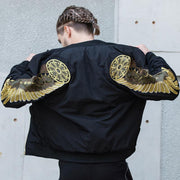 Golden Angel Wings Bomber Jacket