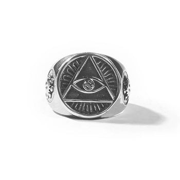Illuminati Stamped Ring