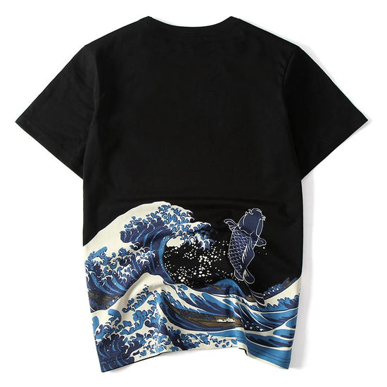 Jumping Carp Painted T-shirt