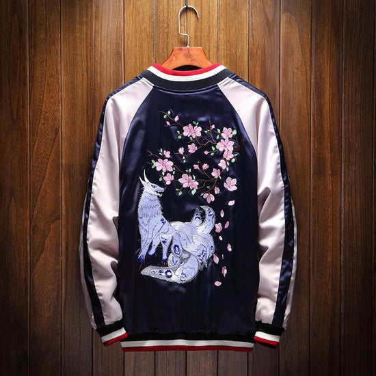 Kitsune Nine Tailed Fox Sukajan Souvenir Jacket [Reversible]