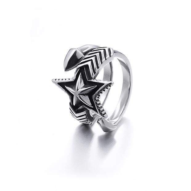 Pentagram Arrow Ring