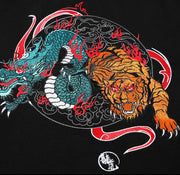 Roaring Dragon & Tiger Embroidery Polo Shirt