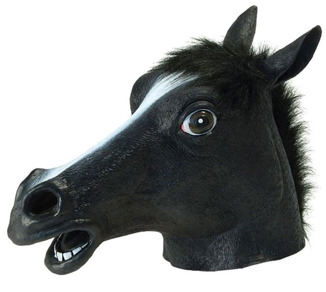 2017 hot sale full face halloween horse mask novelty creepy head latex 3 colors costume theater prop party mask christmas