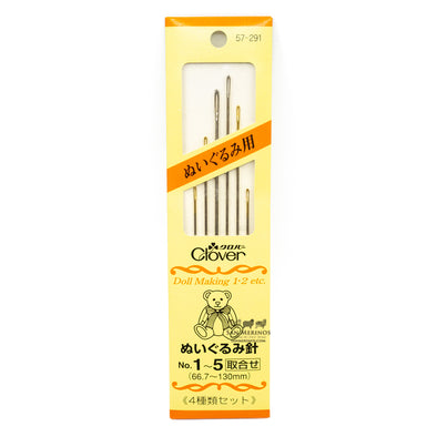 Doll-making Needles no. 1-5 (Set of four types)