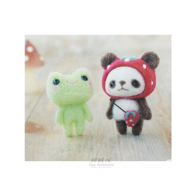 Panda Strawberry Hat and Frog Kit