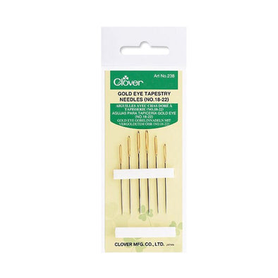 Clover Gold Eye Tapestry Needles (No. 18, 20, 22)