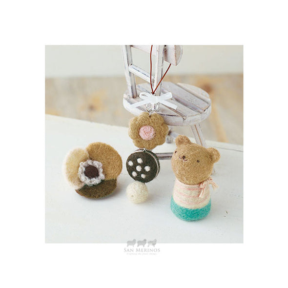 Sweets strap Flower brooch and Bear Kit