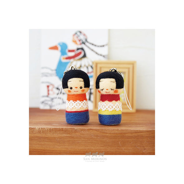 needle felting kokeshi dolls kit