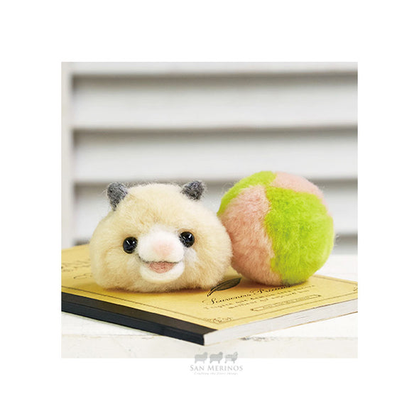 Wool PomPom Hamster and Ball Kit