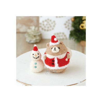 Christmas Bear Santa Claus and Snowman Kit