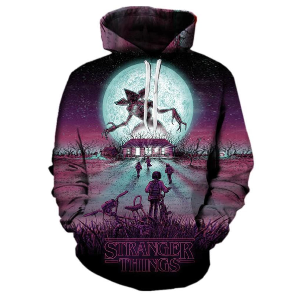 Unisex Stranger Things 3D Theme Hoodie - Limited Edition Series 3 Hoodies ba414b434c1a