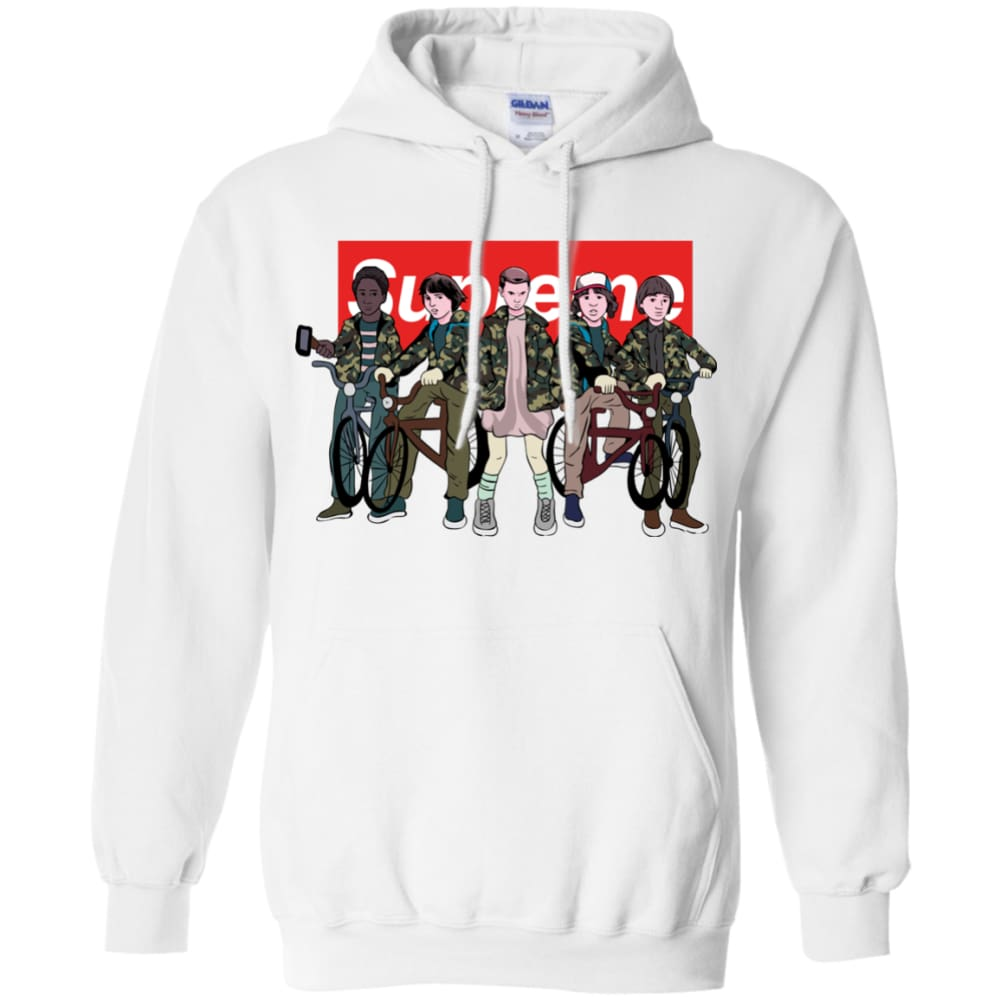 cf178a986e37 Unisex Stranger Things - Supreme Hoodie White   Small Sweatshirts