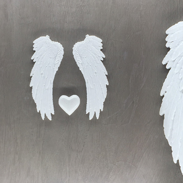 ON-0019 Small Pair plus 1 small heart (120mm x 45mm per wing)