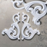 SC-0018 Swan Scrolls Set of 2 (130mm x 90mm) ©