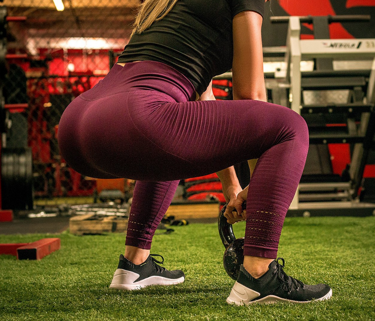 Maroon Seamless Leggings