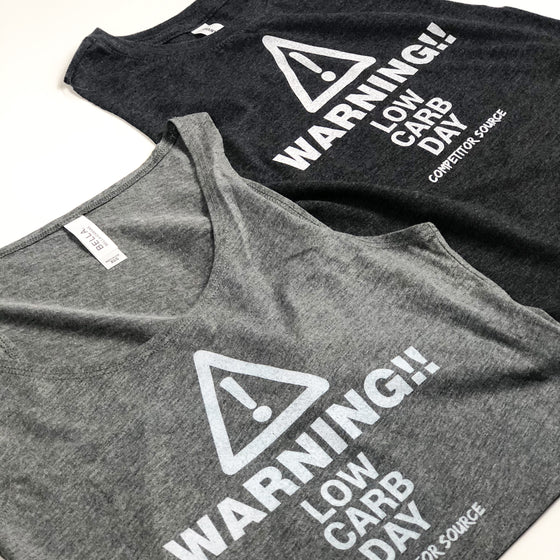 WARNING Low Carb Day - Crop Top Tank