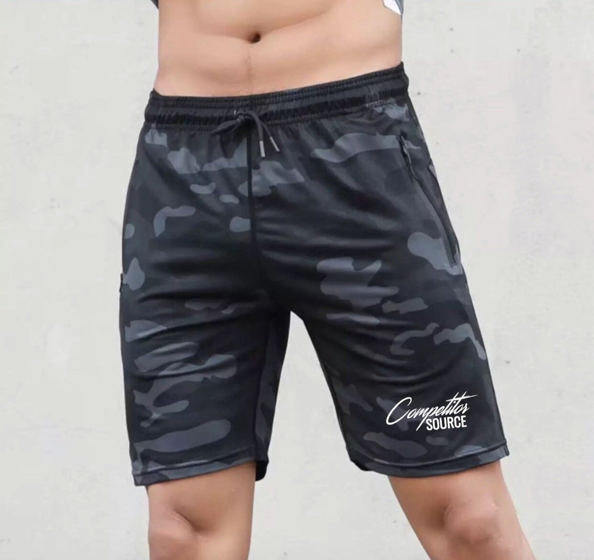 Men's Camo Fitted Workout Shorts