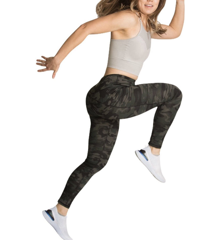 Camo High-Waisted Workout Leggings