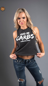 FEED ME CARBS - RacerBack Crop Top Tank Tops