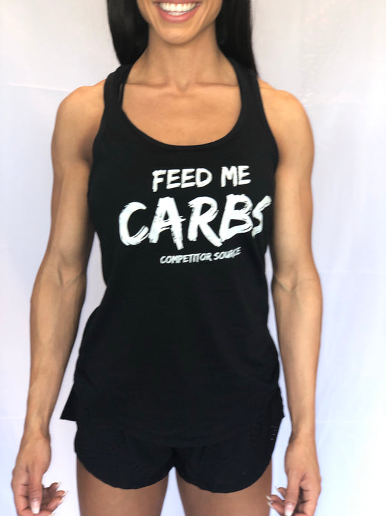 FEED ME CARBS - Racerback Tank Top