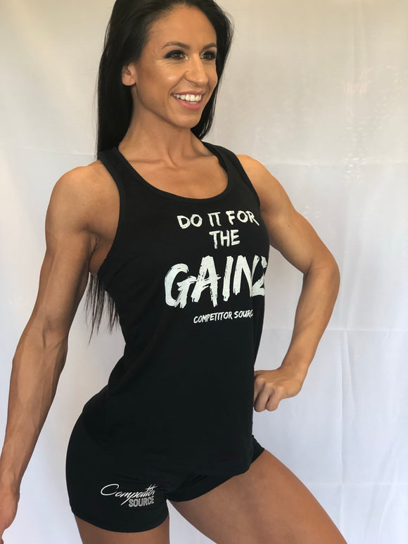 Do It For The Gainz - Racerback Tank Top