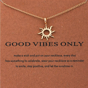 Good Vibes Sun Necklace