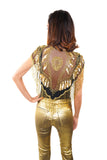Dripping in Gold Cape/Top