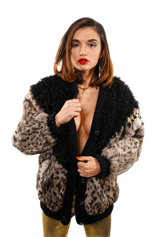 Purrfectly Paired Fur Jacket - Vintage Shop - Hunt and Gather San Diego - Festival Fashion