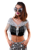 Dripping in Silver Cape/Top - Vintage Shop - Hunt and Gather San Diego - Festival Fashion