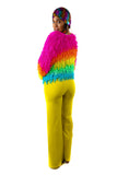 Rainbow Piñata Sweater - Vintage Shop - Hunt and Gather San Diego - Festival Fashion