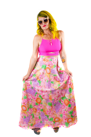Rosey Garden Party Maxi Skirt
