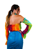 Psychedelic Party Crop Top