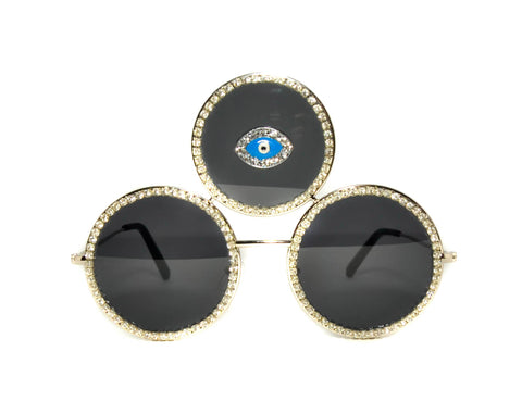 Third Eye Shades in Silver - Vintage Shop - Hunt and Gather San Diego - Festival Fashion