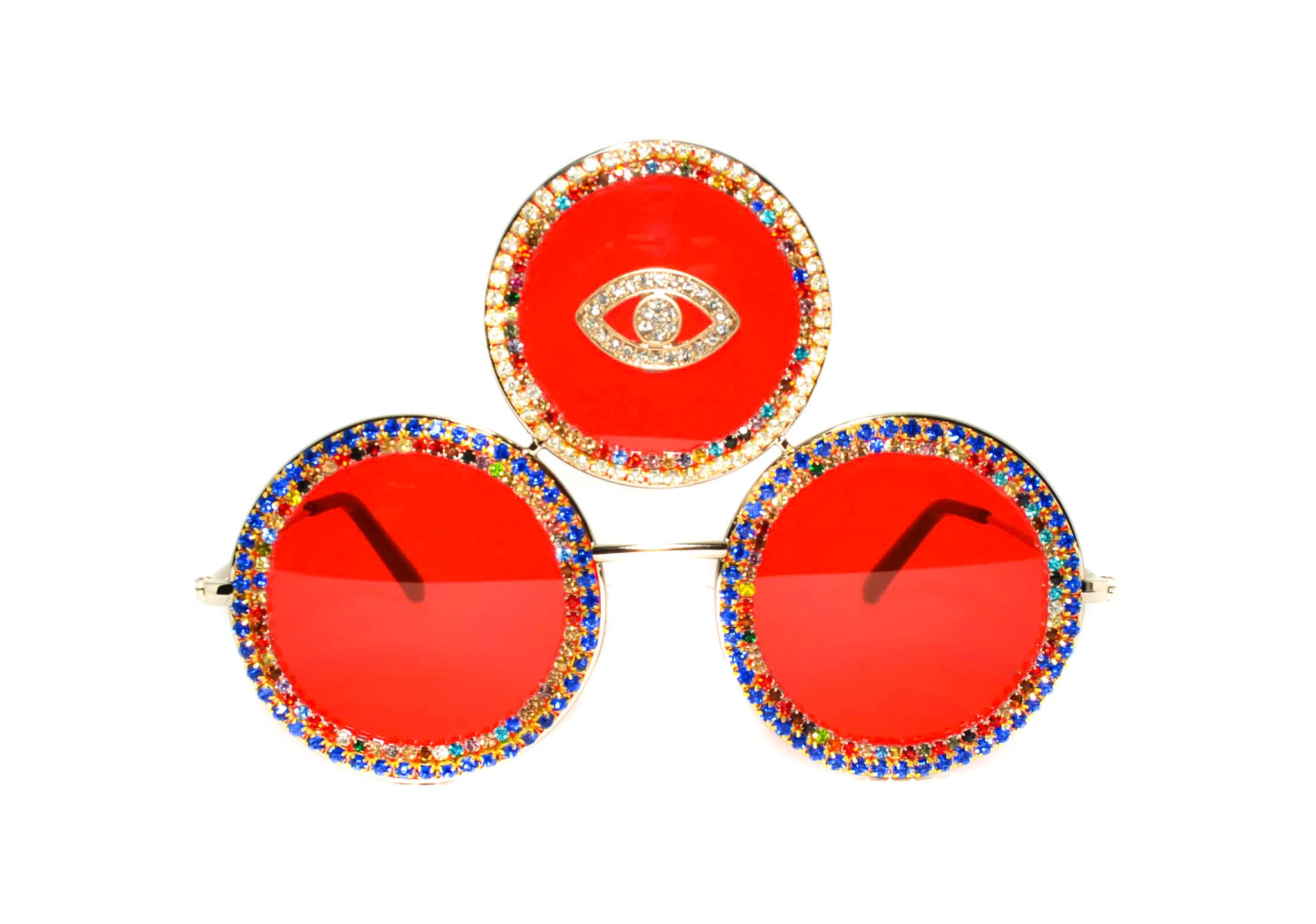 Third Eye Shades in Red - Vintage Shop - Hunt and Gather San Diego - Festival Fashion