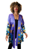 Purple Passion Hand Painted Silk Robe