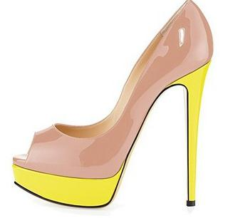Peep Toe Platform High Heel Pump