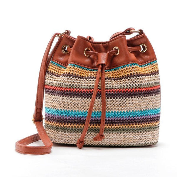 Crossbody Tote with Leather Straps
