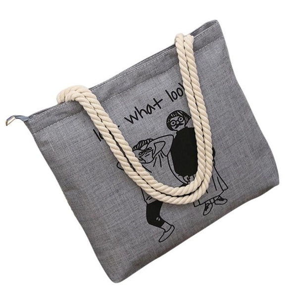 Casual Canvas Printed Handbag