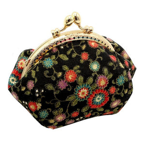 Retro Vintage Floral Cotton Purse