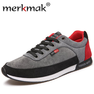 Canvas Athleisure Lace Up Mens Shoes