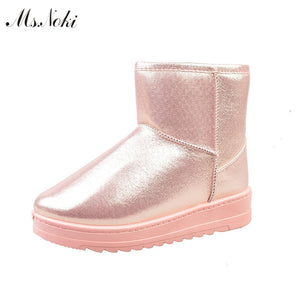 Waterproof Snow Ankle Boots with Platform
